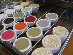 Organized Embossing Powder!