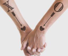 #xo #arrow #heart #tattoo