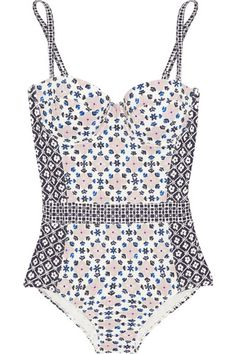 Tory Birch printed underwire suit - I'm into swimsuits at the moment and this little number would look stunning as it slims you down and creates a tiny waist