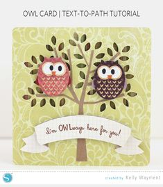 Silhouette America Blog | Owl Card | Text-to-Path Tutorial