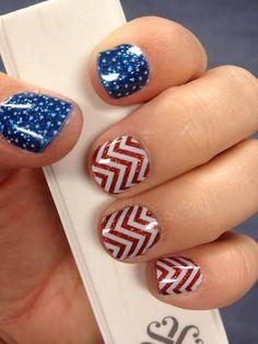 USA Nail design, American Flag Nail Art