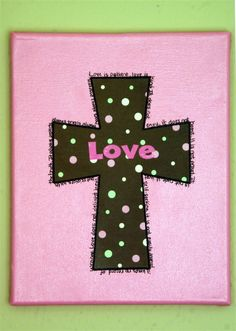 pink and brown cross