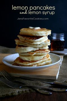 lemon pancakes with lemon syrup