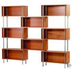mid century shelves
