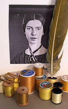 "Kym Hepworth, Emily Dickinson. ""Nature rarer uses yellow..."""