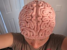 Ravelry: Brain Hat (KNITTING PATTERN, not actual hat) pattern by Alana Noritake. Gotta buy it!