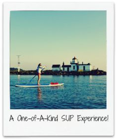 Stand up paddling by the Discovery Park lighthouse. Surf Ballard.