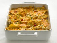 This chicken tortilla casserole has 58% less saturated fat, 50% less fat, and 27% fewer calories than the original recipe.