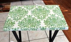 TV tray turned DIY craft table