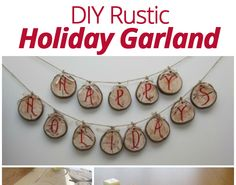 Bring some #rustic #holiday cheer into your home this season with a lovely wooden #garland. This simple project will dress up any room,  creating a warm and homey feel. #homedecor