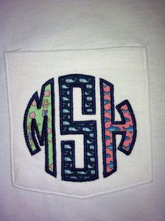 Vineyard Vines monogram pocket t-shirt