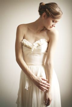 Alice- Silk Chiffon Wedding Gown--Etsy Exclusive. $1,795.00, via Etsy.