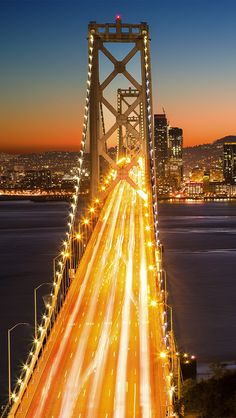 SanFran at night | #bridge #sanfranciso
