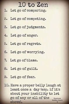 Let go...... Life is meant to be lived! remember this, quotes, zen, thought, inspir, letting go, lets go, belly laughs, live