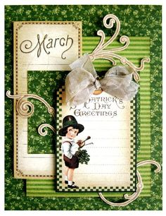 "Try this ""St. Patrick's Day Greetings"" card with a printable project sheet #graphic45 #projectsheets #tutorials"