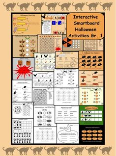 Smartboard, Halloween Language and Math for Gr. 1 ! Enter for your chance to win 1 of 4.  Interactive Smartboard: Halloween Math and Language Gr. 1  (25 pages) from Teaching The Smart Way on TeachersNotebook.com (Ends on on 10-29-2014)  Great fun for Halloween on your Smartboard
