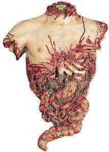 Gory Bloody Half Human Torso Halloween Prop