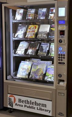 The Bethlehem Area Public Library has installed a library vending machine in the Hanover Township Community Center. (DENISE SANCHEZ, THE MORNING…)