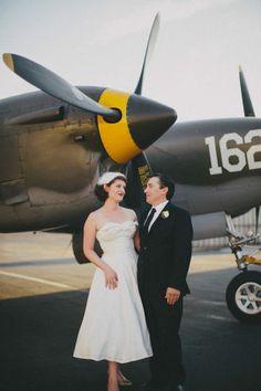 aviation inspired wedding designed by Rebel Belle Weddings http://www.weddingchicks.com/vendor-guide/rebel-belle-weddings/