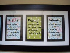 chore chart idea with added fun chores