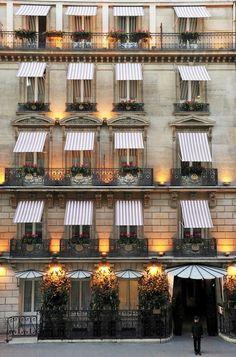 Paris...striped awnings