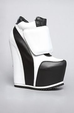 The Succession Shoe in Black and White (Exclusive) by Jeffrey Campbell