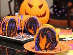 Halloween Rainbow Party Bundt Cake