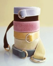 velvet ribbon belts