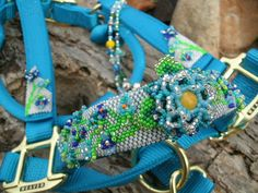 Beaded Horse Halter- Custom Horse Halter-Hand Beaded Flowers- HORSE TACK on Etsy, $216.00
