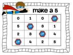 addition fluency games- make a 5!
