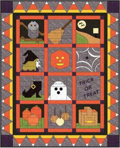 Free pattern Picture of Trick-or-Treat Quilt-A-Long
