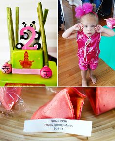 Beautiful cake, and great party theme! #Kung Foo Panda. Lovin the fortune cookie idea!!! cake cookies, birthday parties, birthdays, fortun cooki, panda birthday, panda bear, kung fu panda, panda parti, panda party