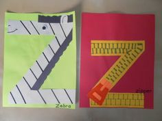 Z for zebra and zipper