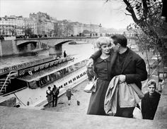Joanne Woodward and Paul Newman in Paris