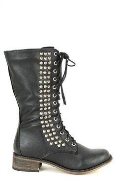 Deb Shops Tall #Combat #Boots with Studs