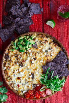 Cheesy Black Bean + Quinoa Taco Bake