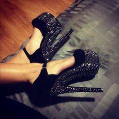 shoes, lets party, fashion, walks, black magic, parties, black heels, happi feet, bling bling