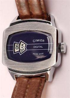 Vintage Watch - 1970 Cimier Mechanical Digital.