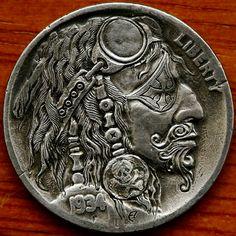 hobo nickl, aleksey saburov, hobo nickel, fine art, hobo coins