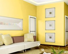 Try the Sherwin-Williams Color Visualizer to imagine what colors will look like. Use a photo of your own home, or try one of ours. Here, we tried Overjoy (SW 6689) in a living room setting.