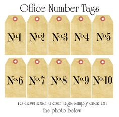 Kristine Mckay Designs » Blog Archive » Decorating using Numbers; more printables