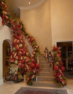 Lovely Christmas Foyer