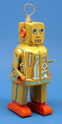 Vintage yellow robot