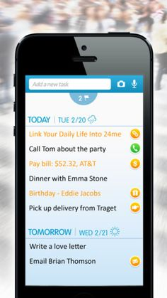 24me ($0.00) It's an automatic to do list. And yes, there is some magic involved - a task management app that can do the work for you...   In addition to all the features that any other to do list app has, it can also automatically tell you about things you need to do. It can notify you about your financials, service providers, friends, and other errands. It can even take care of some of those responsibilities for you.