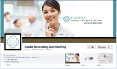 Staffing and Facebook: Cordia Recruiting and Staffing appeal to both clients and job candidates-looks great guys!