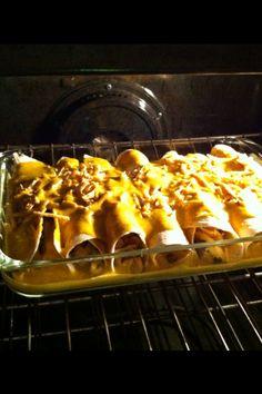 enchiladas, black beans, pumpkins, meat, pumpkin sauc, pumpkin enchilada, creami pumpkin, vegan enchilada, pumpkin recip