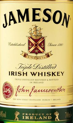 Jameson Irish Whiskey - Ole Jimmy is a friend of the family!