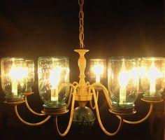 love this mason jar chandelier