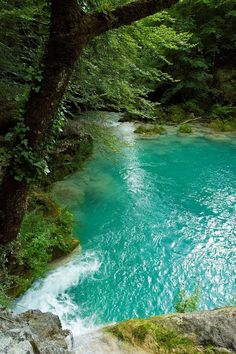 Turquoise and green, Navarre, Spain.