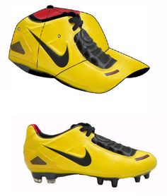 Soccer shoe caps.